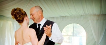 Father daughter dancing