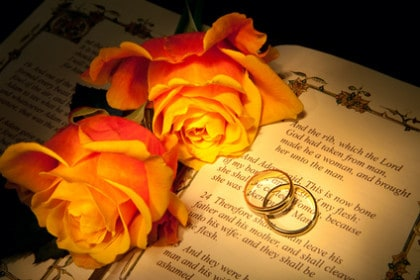 Wedding Rings and Program