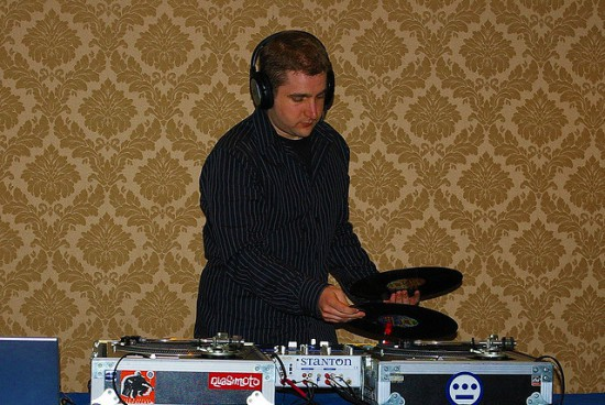 Wedding DJ Playing Vinyl