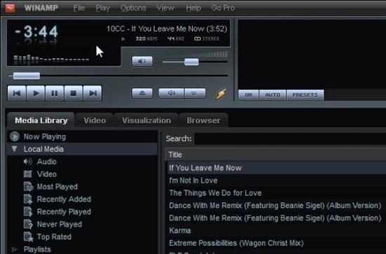 Winamp for PC Screenshot
