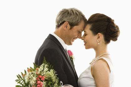 Secret wedding songs couple embracing